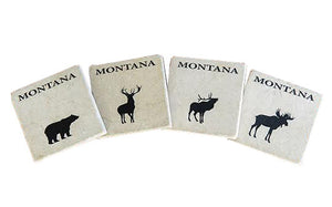 Montana Wildlife Coasters