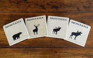 Montana Wildlife Stone Coaster Set
