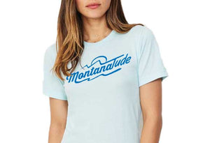 Women's MontanaTude T-Shirt, Baby Blue