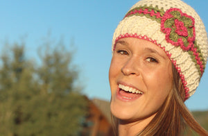 Women's Crochet Alpaca Hat