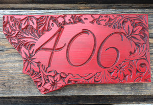 Montana 406 Sign (Color Choices)