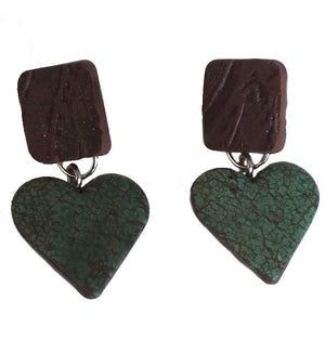 Rustic Heart Montana Earrings - made in Montana