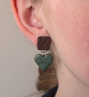 Rustic Heart Montana Earrings- made in Montana