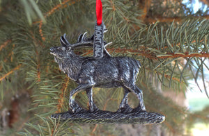Montana Elk Christmas Ornament