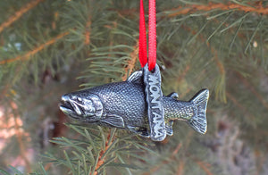 Rainbow Trout Christmas Ornament