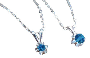 Montana Sapphire Necklace, Sterling or Gold Buttercup Pendant [choose carat]