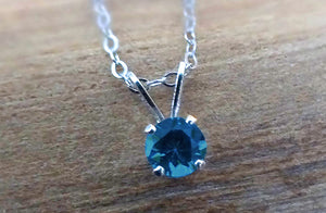 Yogo Sapphire Necklace, Sterling Stone