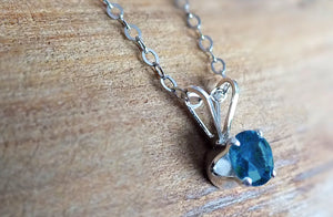 Blue Yogo Sapphire Sterling Necklace