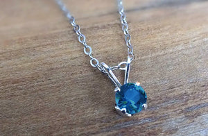 Yogo Sapphire Necklace, Tiffany Sterling or Gold Pendant