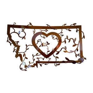 Heart In Montana Metal Wall Decor