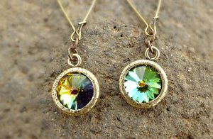 Yellowstone's  Rivoli Crystal Montana Earrings - Distinctly Montana - 1