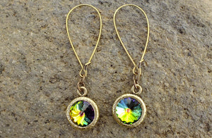 Yellowstone's Palette Rivoli Crystal Montana Earrings - Distinctly Montana - 3