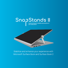 Load image into Gallery viewer, SnapStands: A Microsoft Surface Book 1, 2, and 3 Detachable Kickstand