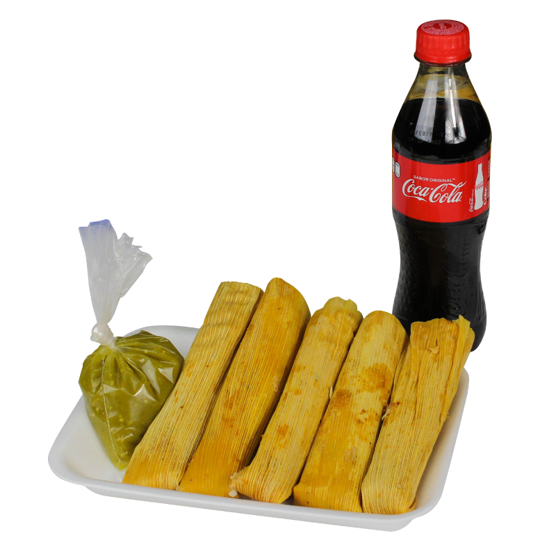 5 TAMALES FANY + REFRESCO DE 350 ML