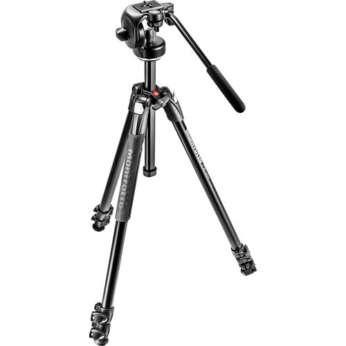 Manfrotto 290 Xtra Aluminum Tripod with 128RC Micro Fluid