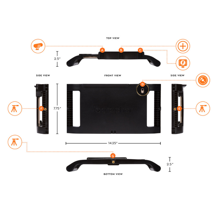 iOgrapher Filmmaking Case for iPad 9.7 - Fits iPad Air 1 & 2, 9.7 Pro, 9.7 5th & 6th Gen