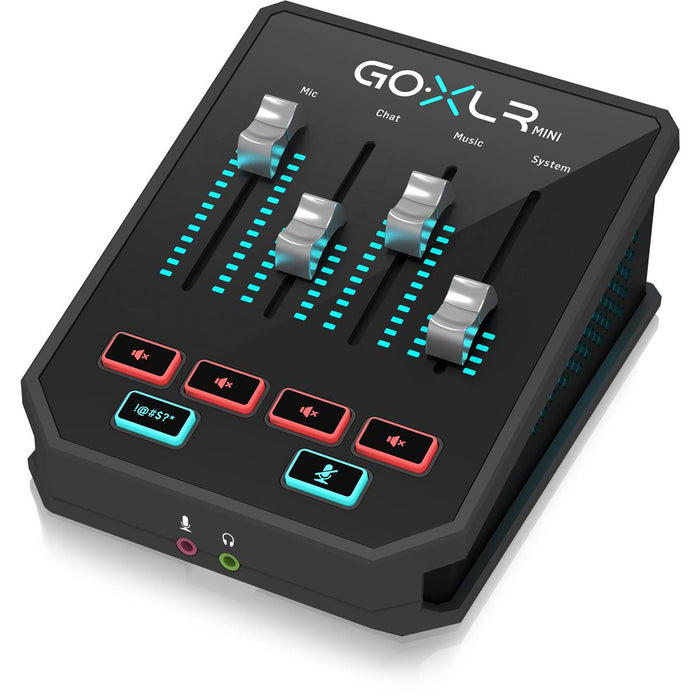 TC-Helicon GoXLR Mini Online Broadcast Mixer with USB Audio