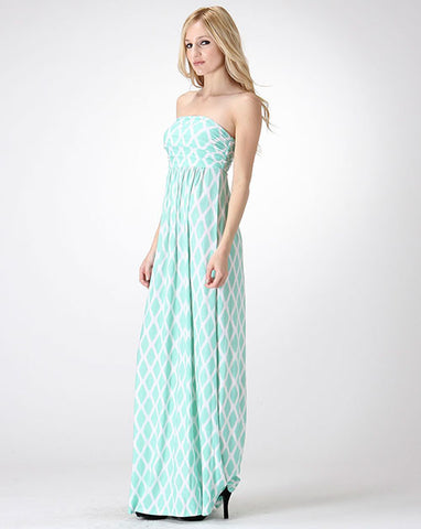 Hourglass Lilly Maxi - White & Mint