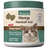 NaturVet Hairball Aid Chews Plus Hemp