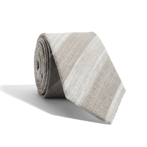 Textured Tan Stripes Tie