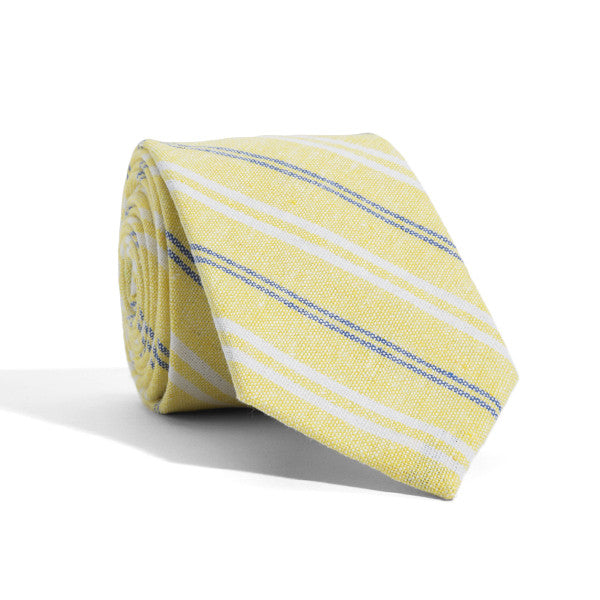 Yellow Mercer Stripes Tie