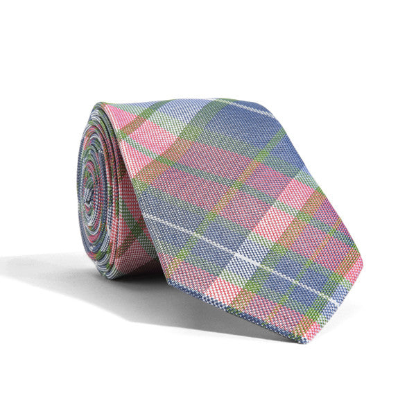 Maude Madras Plaid Tie