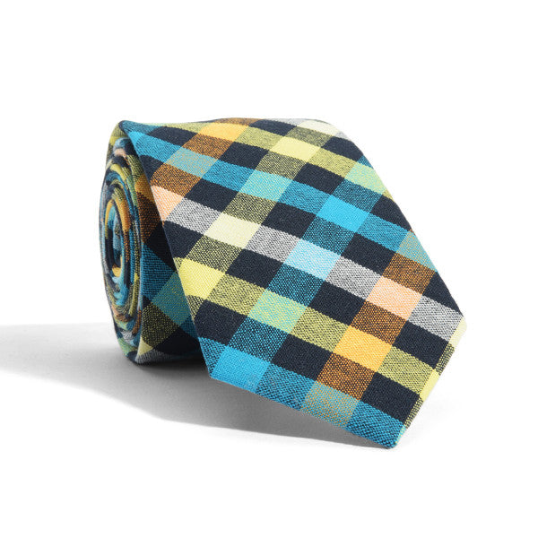 Fluorescent Plaid Tie