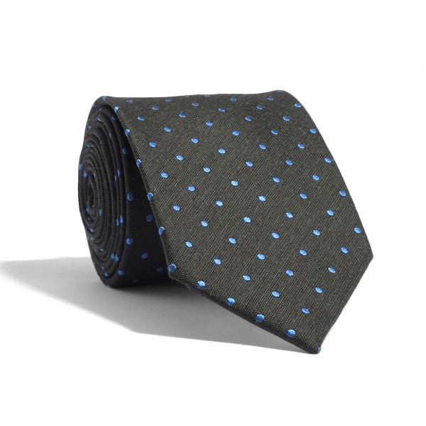 Forest Blue Dotted Tie