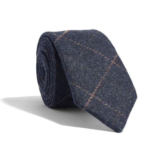 Wool Power Plaid Tie