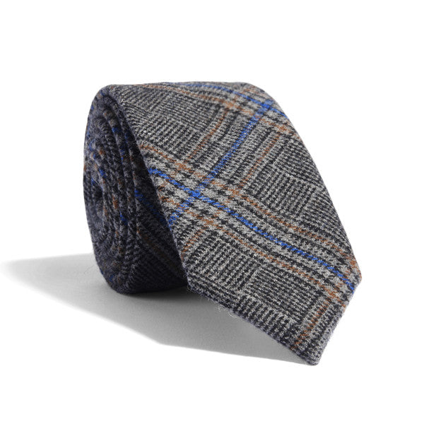 Brown Accent Plaid Tie