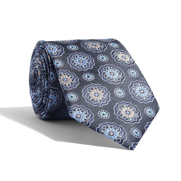 Stained Glass Floral Tie