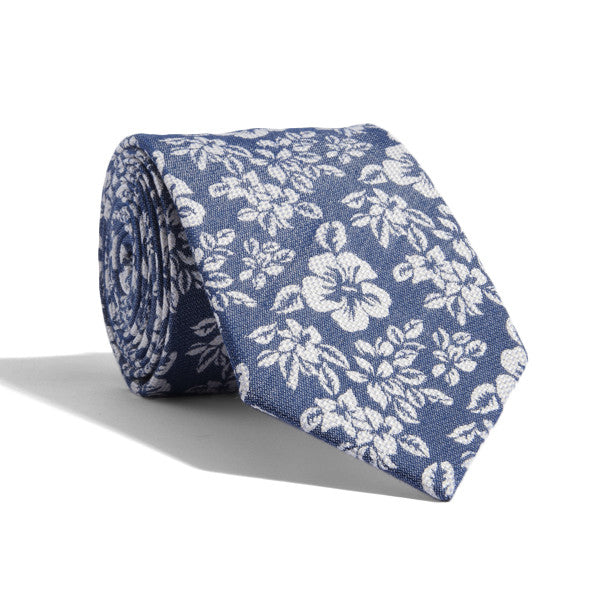 Budding Blue Floral Tie