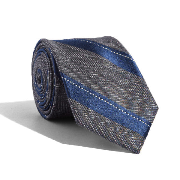 Houndstooth Stripes Tie