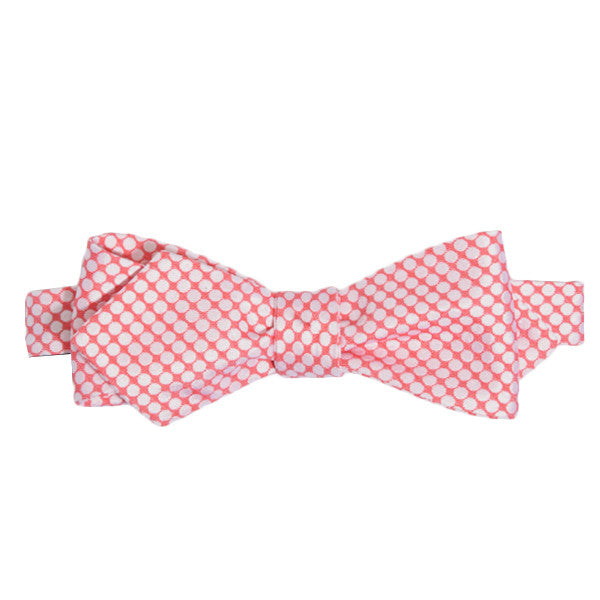 Red Dense Dotted Bow Tie