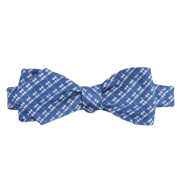 Blue Hashtag Bow Tie