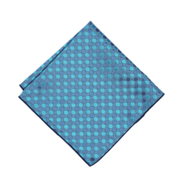 Turquoise Polka Dots Pocket Square