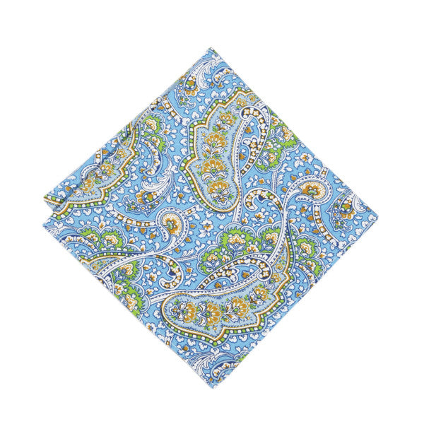 Darjeeling Paisley Pocket Square