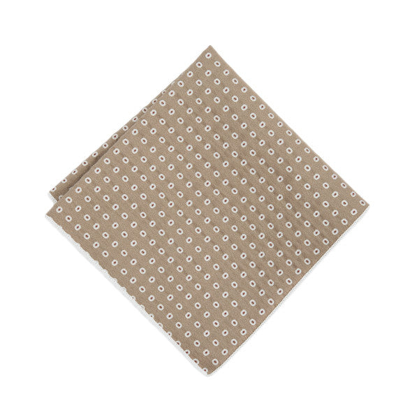 Tan Oblong Pocket Square