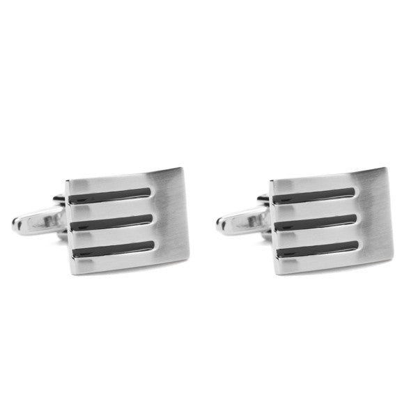 Triple Striped Cuff Links