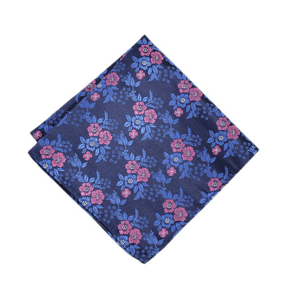 Purple + Pink Floral Pocket Square