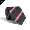 Black + Red Stripes Tie