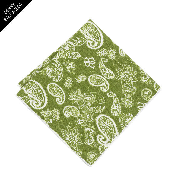 Forest Paisley Pocket Square