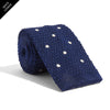 Knit Navy Dotted Tie