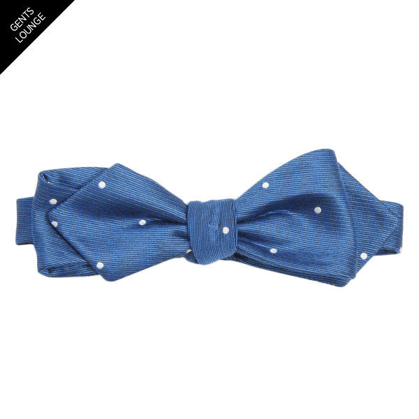 Blue Dotted Bow Tie