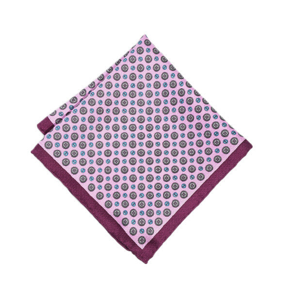 Pink Buttoned Pocket Square