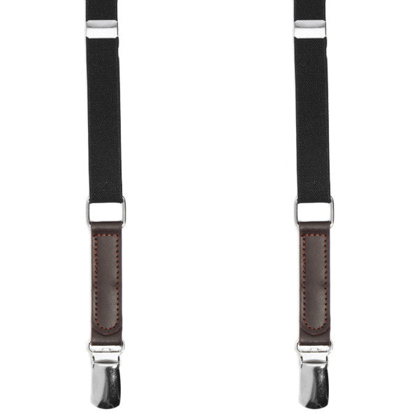 Skinny Black Suspenders