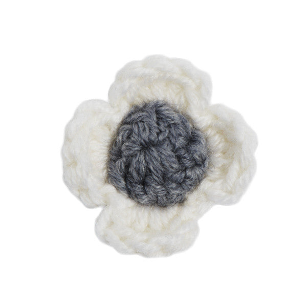 White + Grey Lapel Flower