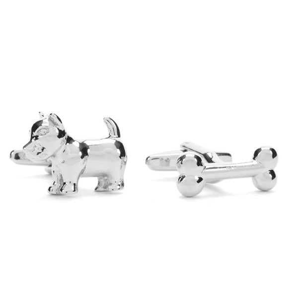 Dog + Bone Cuff Links