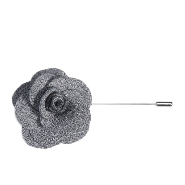 Grey Lapel Flower