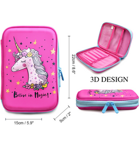 Unicorn Pencil Case For Girls | Cute and Lightweight Pen Holder Perfect for Preschool, Kindergarten and Elementary
